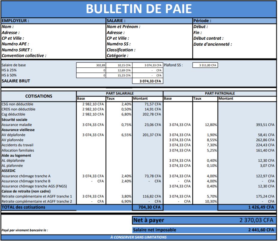 La digitalisation des fiches de paie au Sénégal